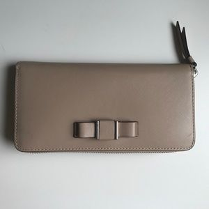 Coach Women's Long Wallet with Bow Detail